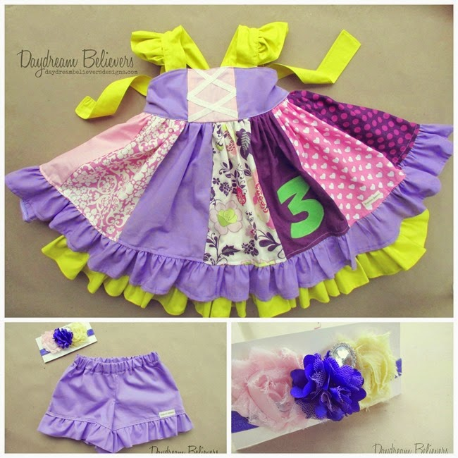 Emaleighs Custom Rapunzel Tangled Inspired Birthday Outfit by Daydream Believers