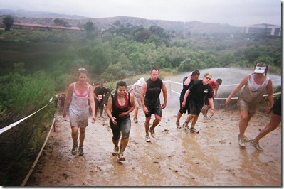 Camp Pendleton Mud Run slippery hill