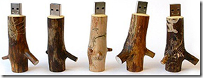 Chiavette USB tronco di legno