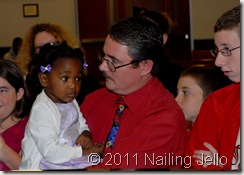 Michael with Shea during testimony