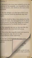 Screenshot of Bible - Psalms