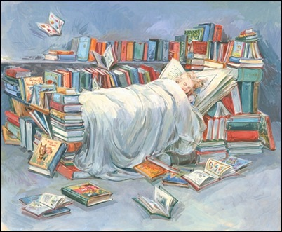 Sleeping with the books