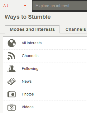 stumbleupon interests