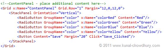 Color Choser UI (WP7 Application State Management Demo)