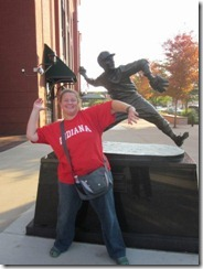 lisa by baseball statue 1