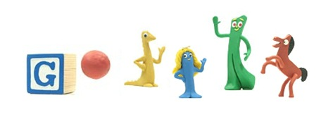 Art Clokey's 90th Birthday-Google Logo