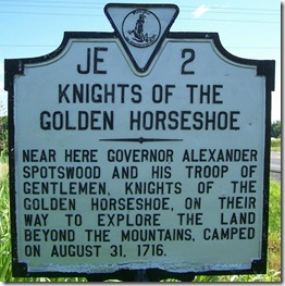 Knights Of The Golden Horseshoe VA Marker JE-2 Madison County