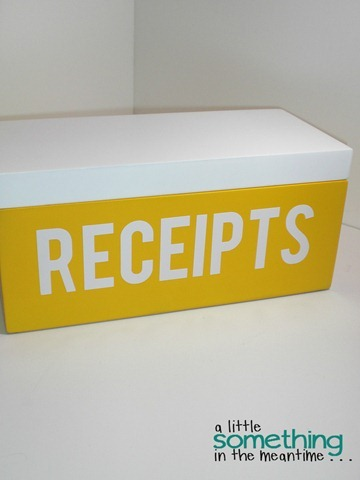 Labelled Receipt Box