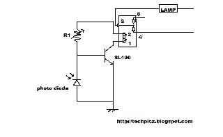 Simple Automatic Street Light Circuit