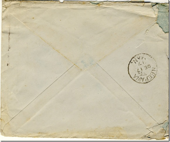 11 Nov 1917 backenvelope