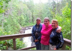 Pam, Gin and Syl at Moxie Falls