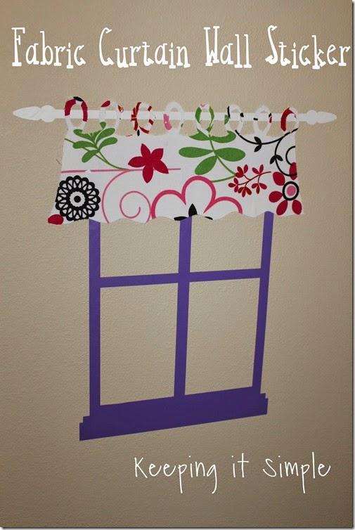 fabric curtain wall sticker
