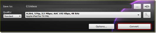 เริ่มแปลงไฟล์วีดีโอให้เปิดได้ใน ipad
