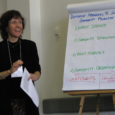 Joan Minieri, RCLA Fellow, facilitates many of the Social Change Leadership Network learning sessions.