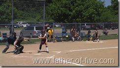 #3 of 5 at bat