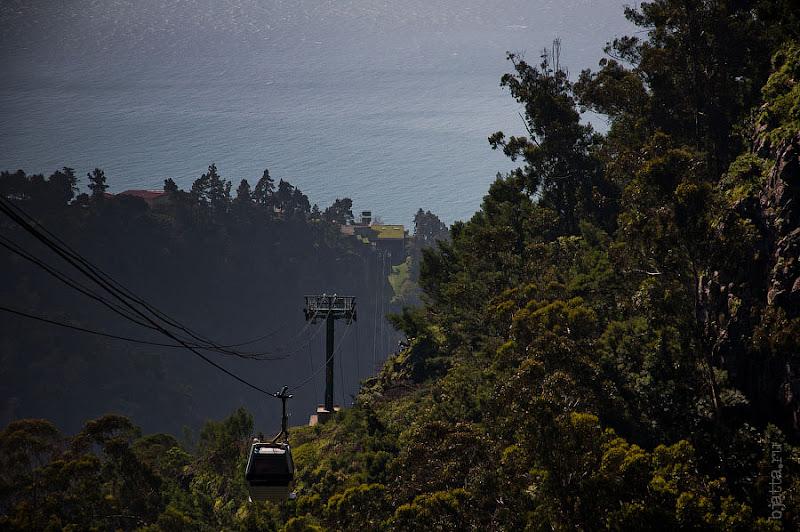 22. И обратный взгляд на всю дорогу сразу. Канатная дорога. Фуншал. Мадейра. Португалия. Круиз на Costa ConCordia.