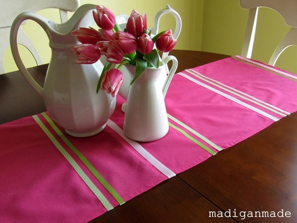 no sew table runner tutorial