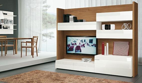 Mueble de TV blanco