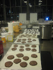 Rows and rows of flourless chocolate cookies. These are one of my favorite recipes.