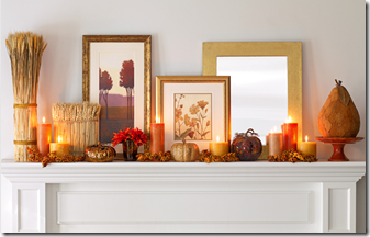 Fall Mantel - Home Goods