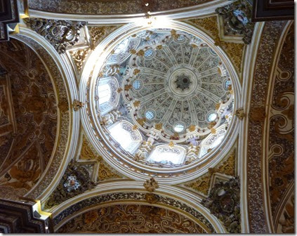 The baroque dome of a Granada's church