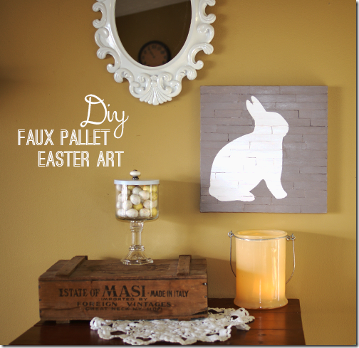 Faux Pallet Easter Art