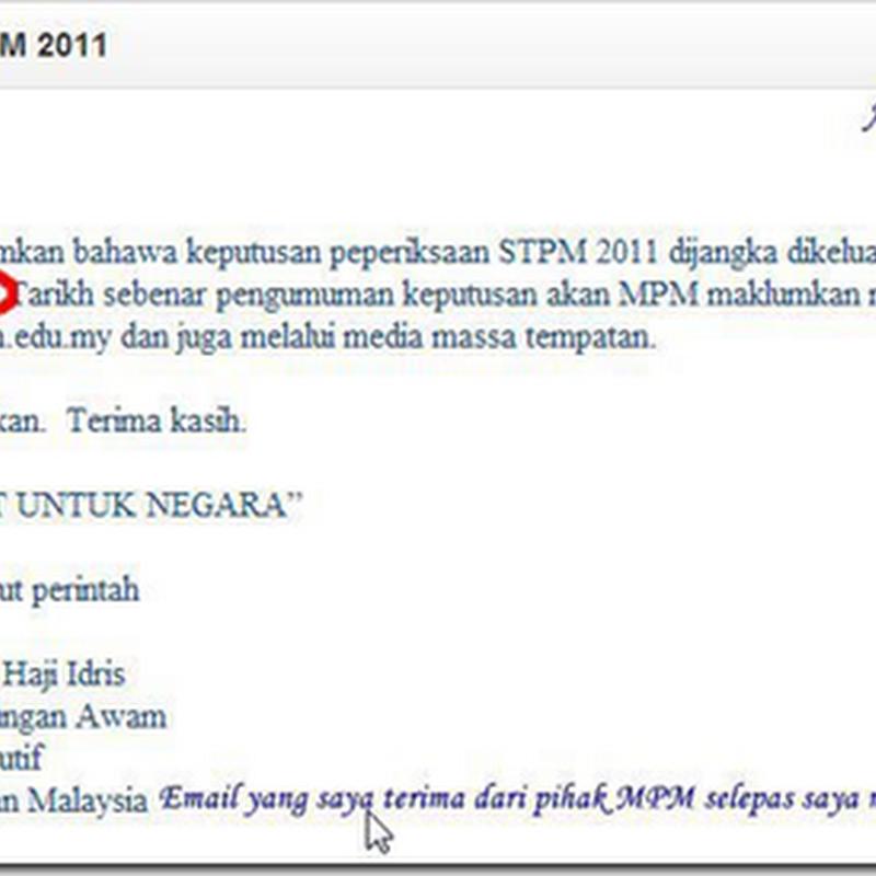 Keputusan STPM 2011/2012