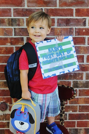 Nash's 1st day of School & Baylor Game 104