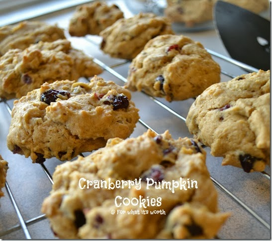 Holiday inspired cranberry pumpkin cookies