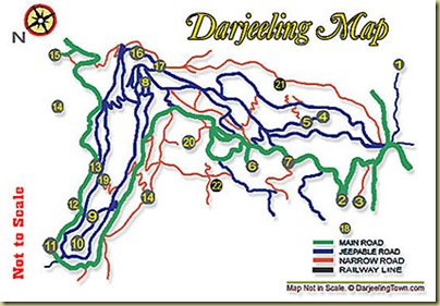 Darjeeing Map
