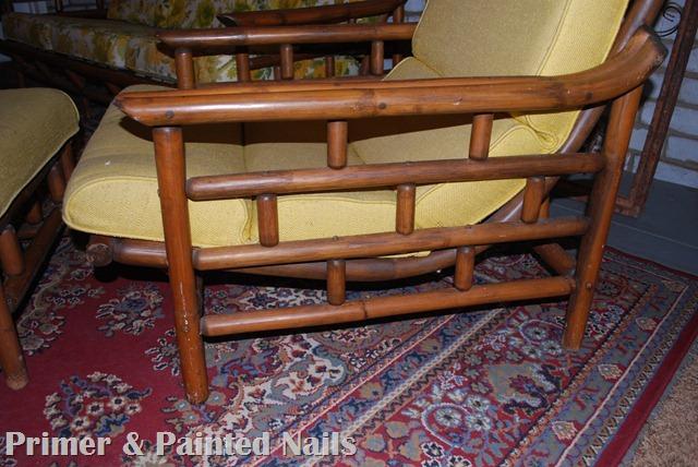Bamboo Chair & Ottoman Before 2