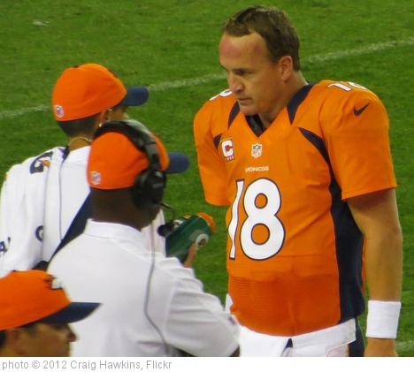 'Peyton Manning, Broncos vs Steelers 2012' photo (c) 2012, Craig Hawkins - license: http://creativecommons.org/licenses/by-nd/2.0/