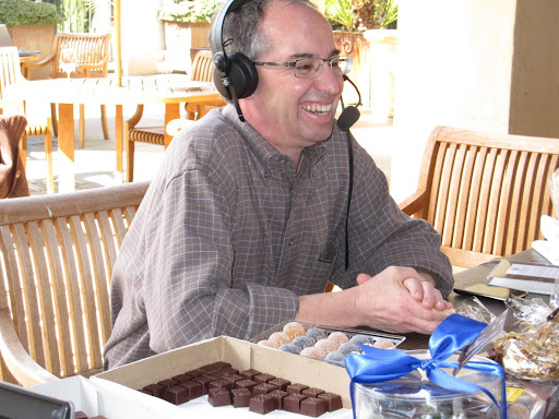 Chuck Siegel has a passion for chocolates and candies that are made with wine flavorings.