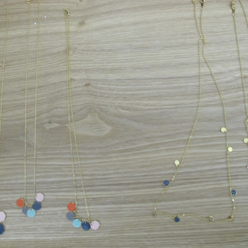 Tracy's necklaces are very delicate and pretty.