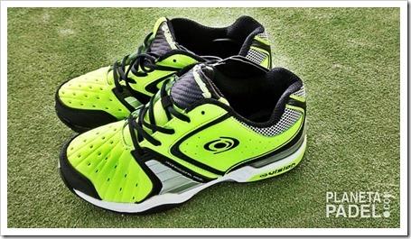 Análisis Zapatillas pádel VISION pro V60115 Color Verde/Lima suela mixta Planeta Pádel Análisis
