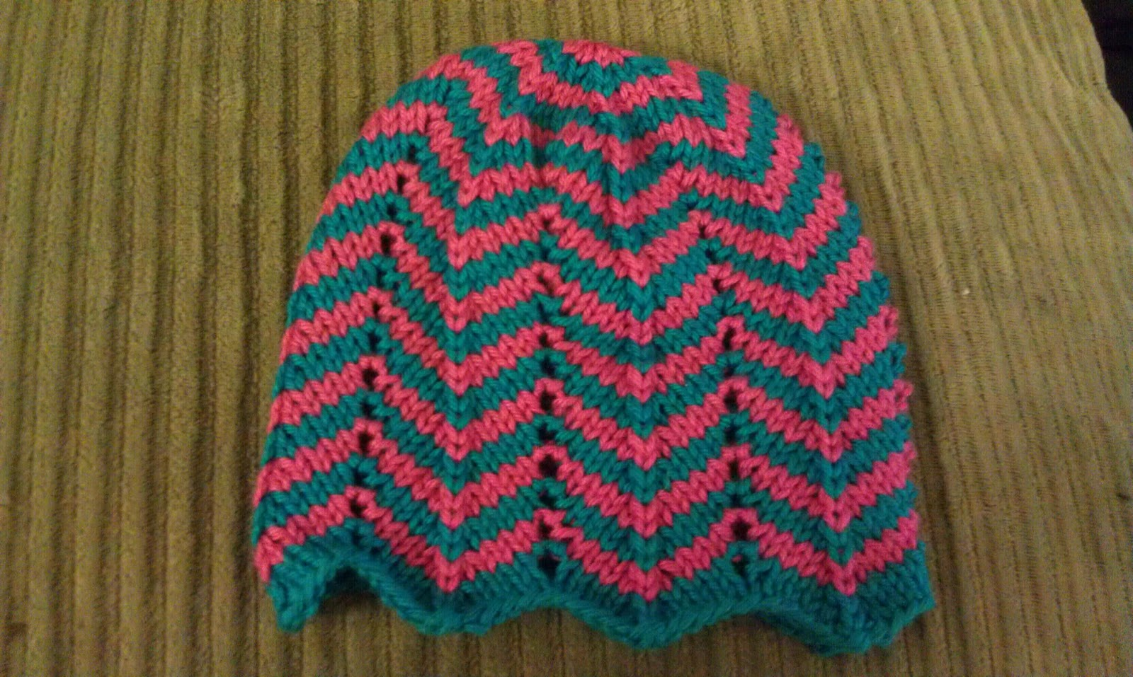 ChemKnits: Chevron Baby Hat Knitting Pattern