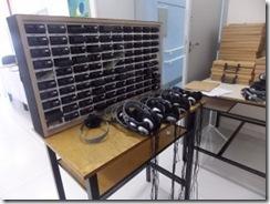 Maleta para transporte dos equipamentos de audiodescrição