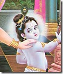 Krishna being chased by Mother Yashoda