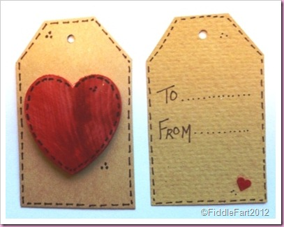 Wooden Heart Tag