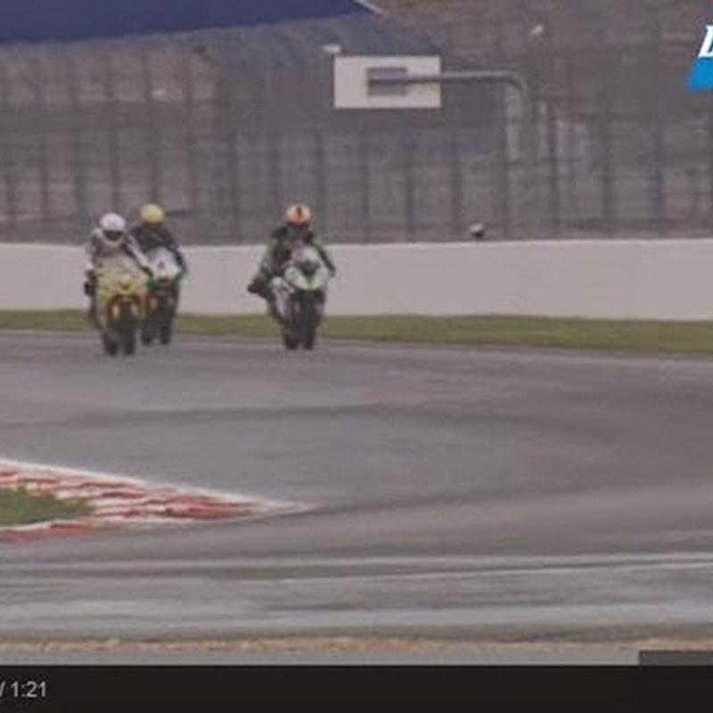 Ένα ασυνήθιστο δυστύχημα για δύο αγωνιστικές μοτοσικλέτες