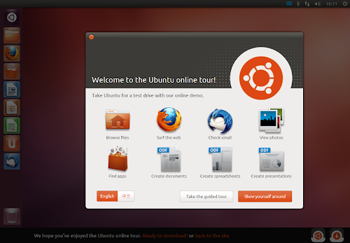 Ubuntu Online Tour