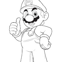 Mario thumb illustrator