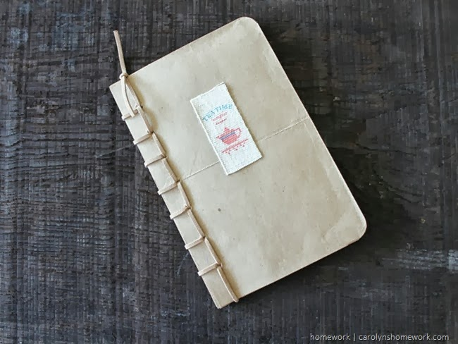 Recyled Grocery Bag Book - Fiskars Art Tools via homework