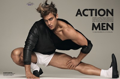 Jason Morgan by Matthias Vriens-McGrath for Têtu, October 2011.  Styled by Nicolas Klam
