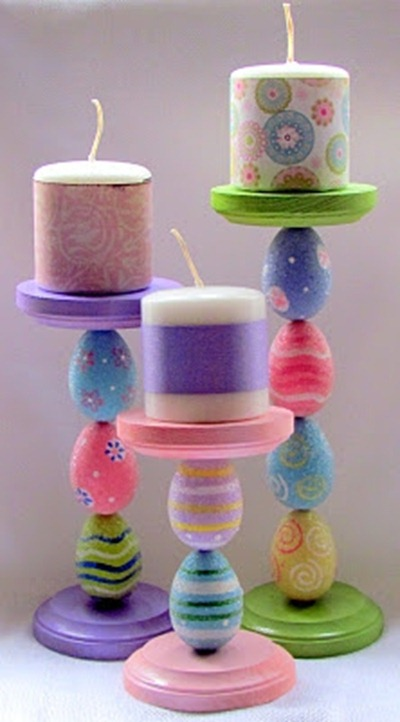 easter candlesticks