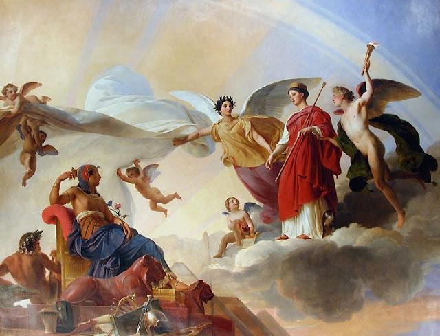 François-Édouard Picot - 12 L'Etude et le Génie dévoilent l'Egypte antiguos à la Grèce.jpg