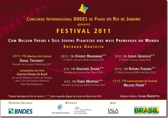 FESTIVAL 2011 BNDES DE PIANO FLYER SALA CECILIA      MEIRELES