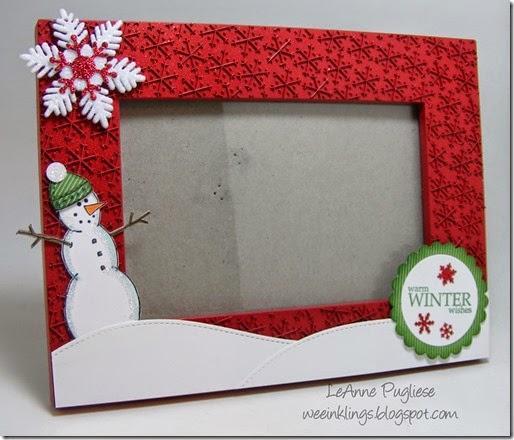 LeAnne Pugliese WeeInklings Snowman Frame Christmas Crafts