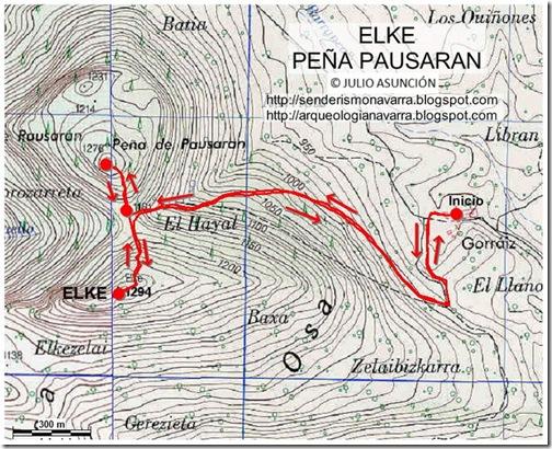 Mapa Elke - Pausaran