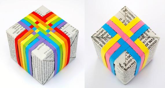 Caixa para presente: Papéis e dobraduras.